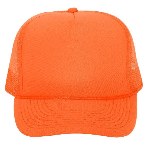 OTTO Polyester Foam Front 5-Panel High Crown Mesh Back Trucker Hat 25 Colors